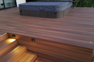 Custom wood decking