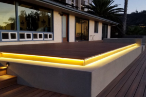 Illuminated wood decking